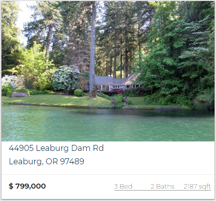 Featured Riverfront Property McKenzie River