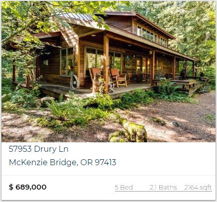 riverfront property McKenzie River Oregon